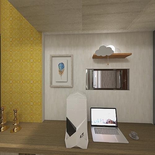 1RK for 4 Interior Design Render