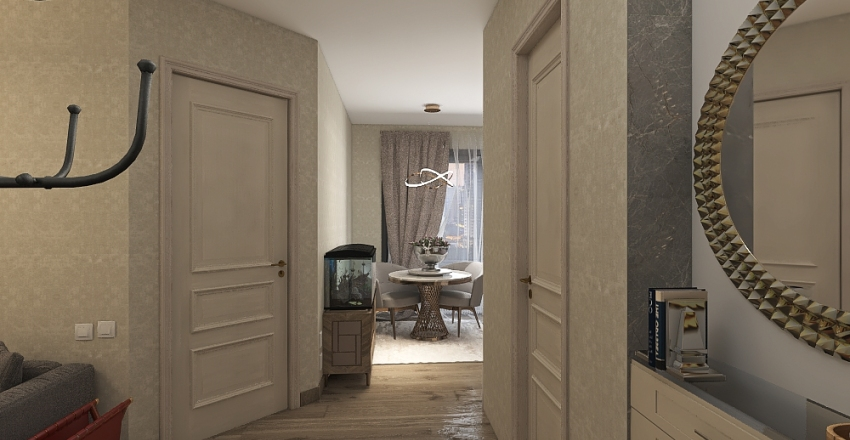 однушка 39,9 кв м Interior Design Render