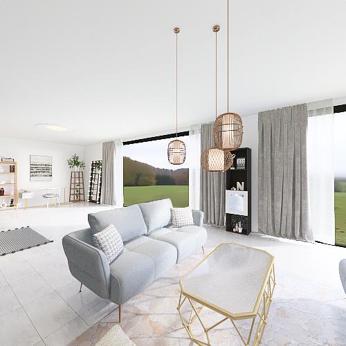 Habitación niñas gemelas Interior Design Render