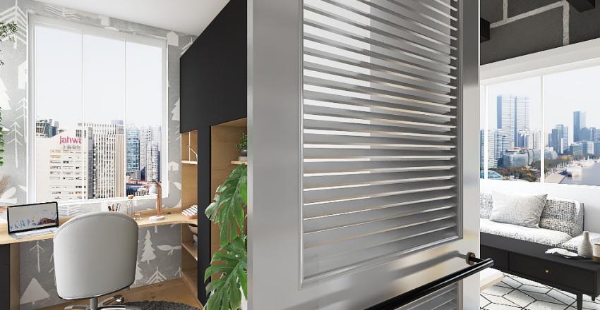 city loft apartment. Interior Design Render