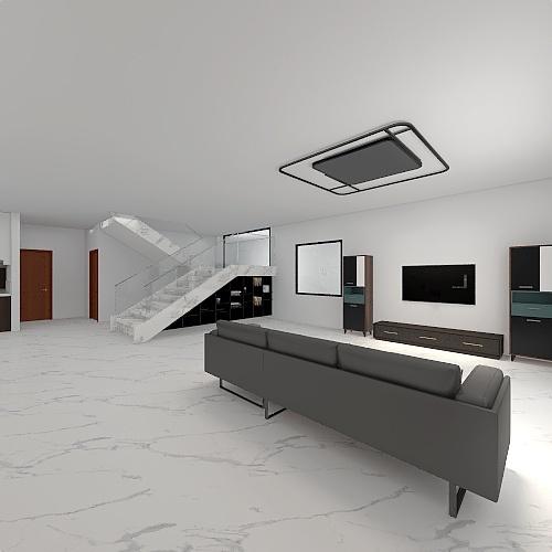 casa habitación planta baja Interior Design Render