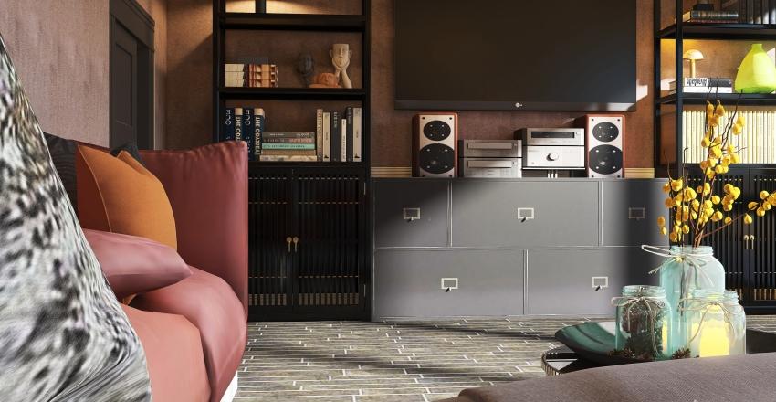 #HSDA2020Residential - Cozy Family Room in France Interior Design Render