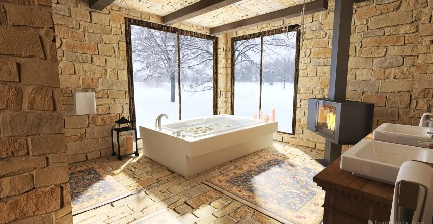 Holiday Cottage Interior Design Render