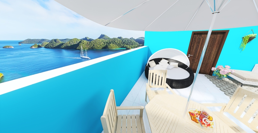 Vista da natureza Interior Design Render