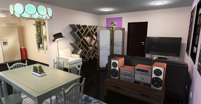 v2_warm up Interior Design Render