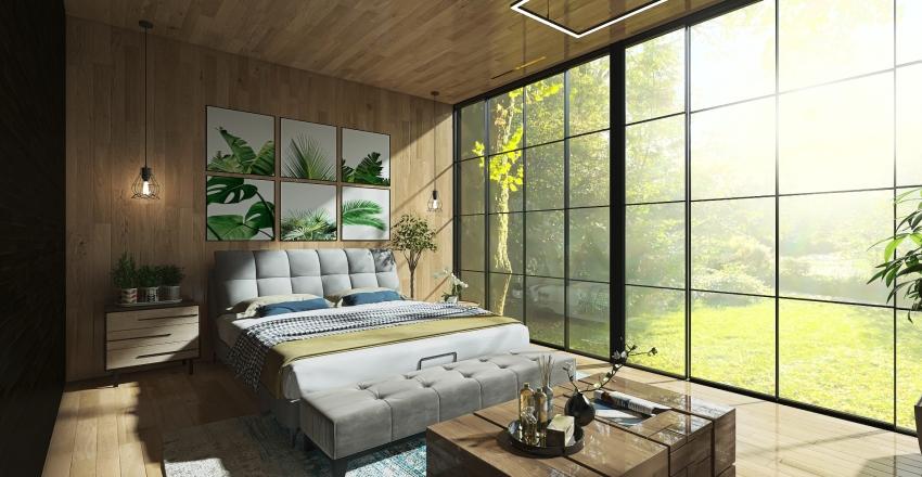 Master Bedroom - Industrial-Modern Concept Interior Design Render