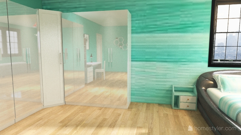 My Sister's Dream Bedroom Interior Design Render