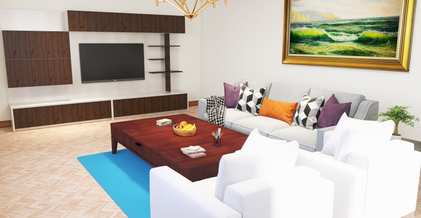 comfortable living room. Interior Design Render