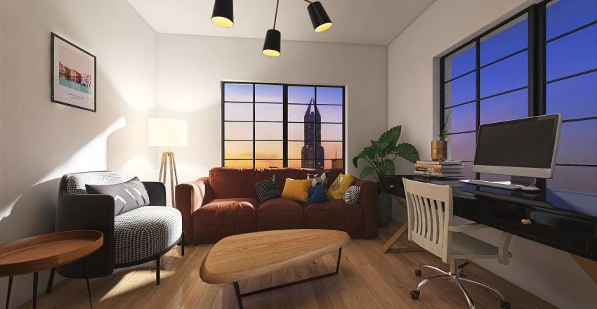 small appartment Interior Design Render
