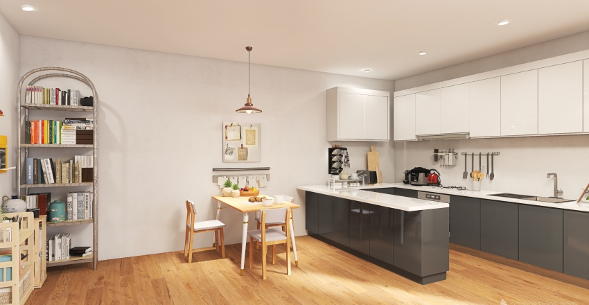 Airy Apartment Interior Design Render