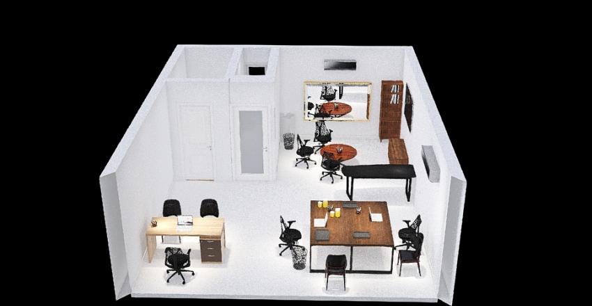 Layout Oficina Gerencia Interior Design Render