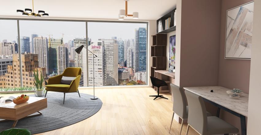 one person apartmen Interior Design Render