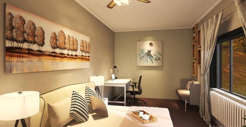 DewRay_Bedroom Interior Design Render