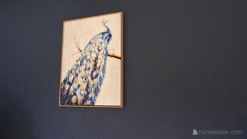 pretty in peacock Interior Design Render