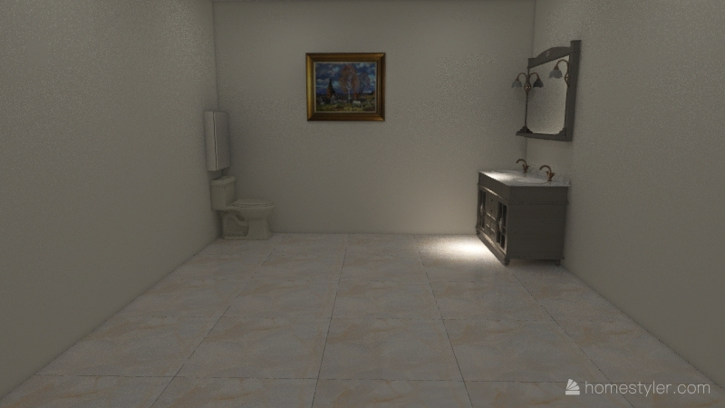 Rustic House Interior Design Render