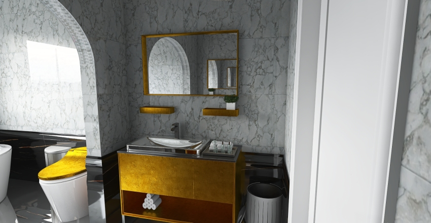 couples bathroom Interior Design Render