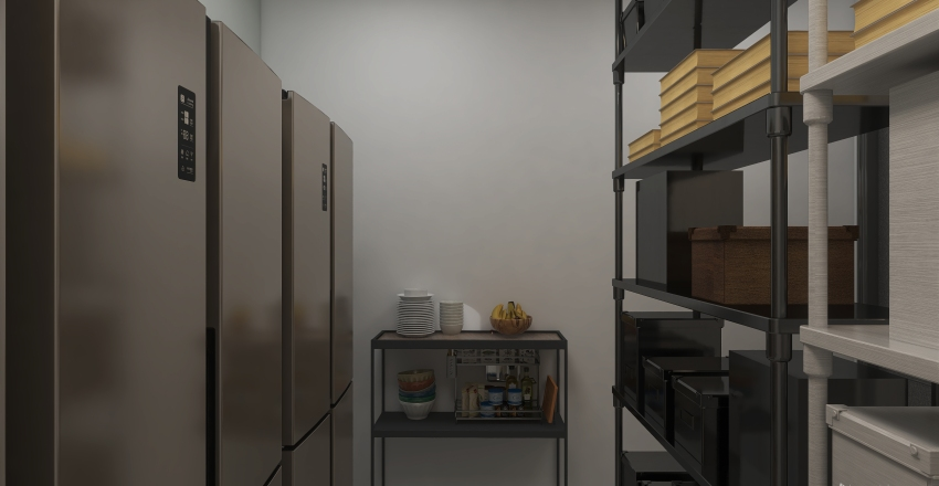 Almacén de cocina Interior Design Render