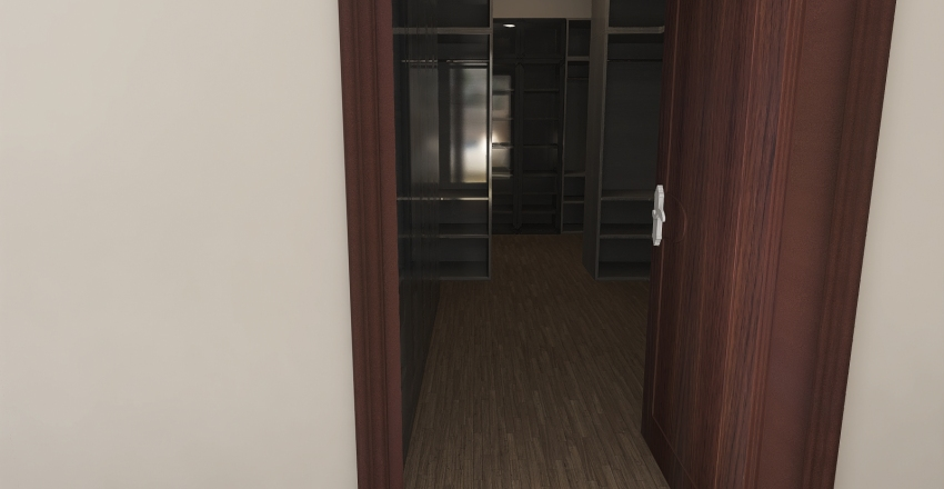 #HSDA2020Residential comfortable bedroom with bathroom and closet Interior Design Render