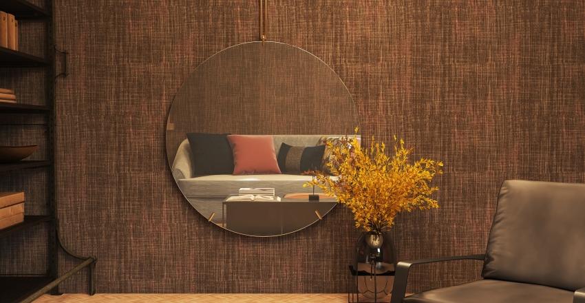 Cozy Guest Bedroom in the Austrian Alps Interior Design Render