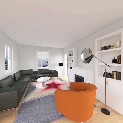 KD Living Room Interior Design Render