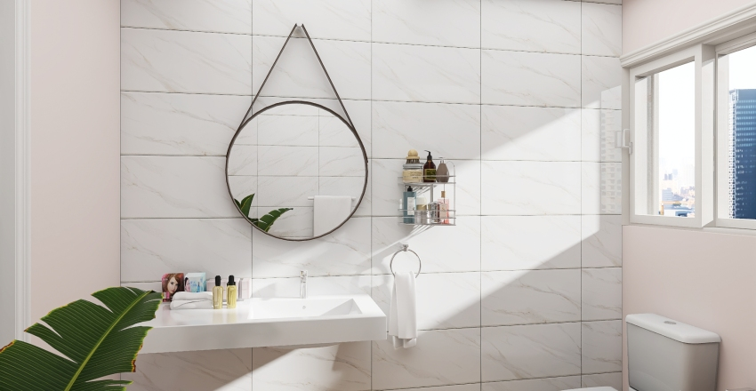 Micro Female Living Space Interior Design Render