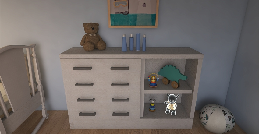 Twin's Room Interior Design Render