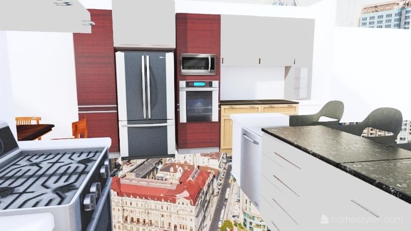 Hamm house kitchen remodel Interior Design Render
