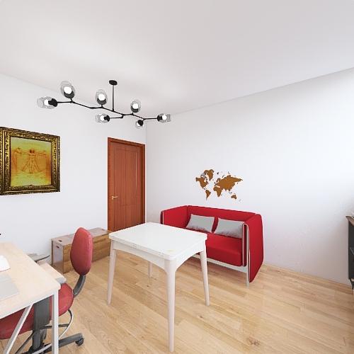 Reforma estudio desván Interior Design Render