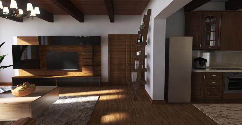 attico maniago Interior Design Render