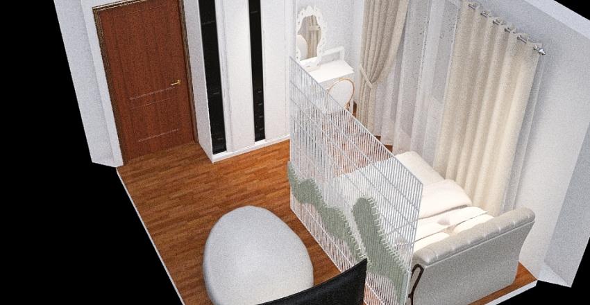 Гостиная-Спальня Interior Design Render