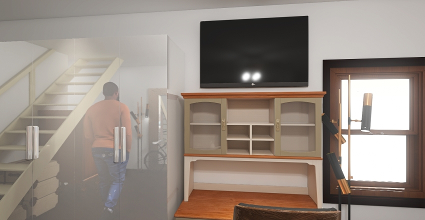 1705 1/2 Lemoyne First Floor 2020 Interior Design Render