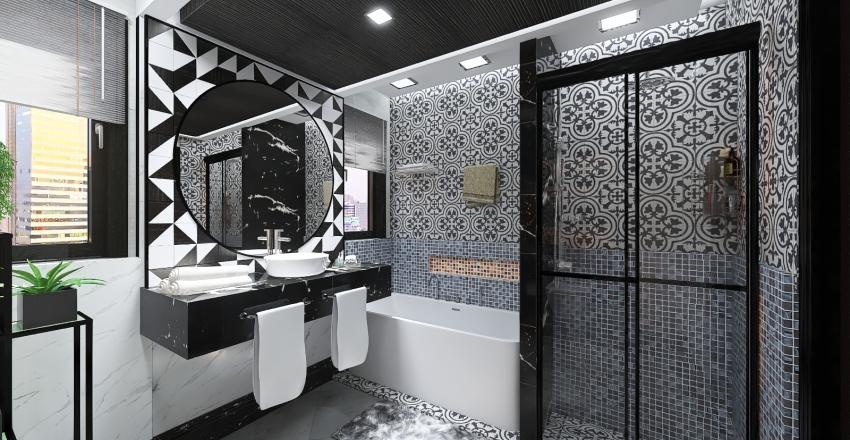 #HSDA2020Residential-Residential-Luxury bathroom Interior Design Render