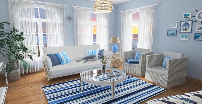 5 - Living Room Interior Design Render
