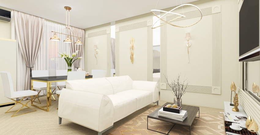 Neo classic apartment Interior Design Render