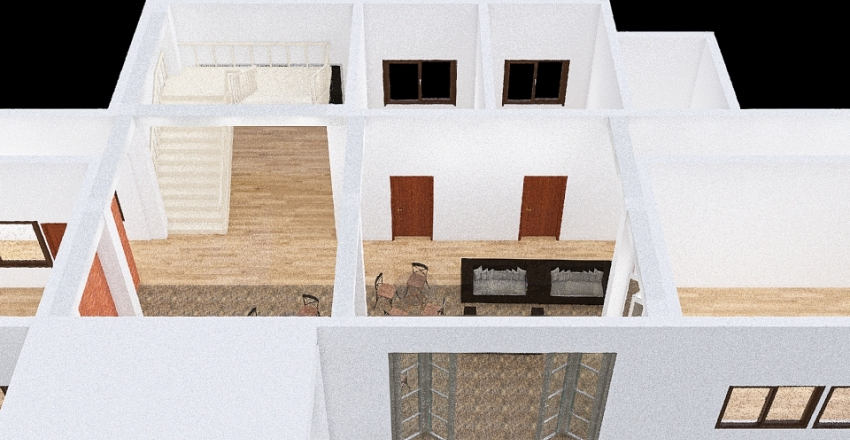 금호초등학교-1층 로비 Interior Design Render