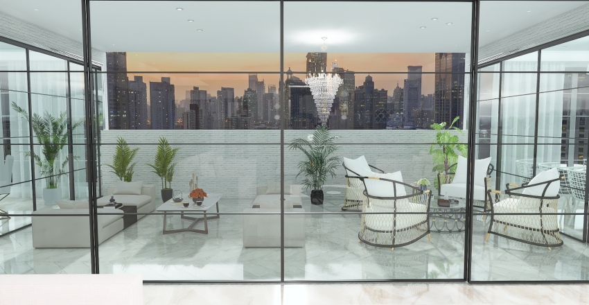 NY City Interior Design Render