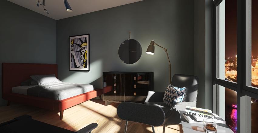 modern appartment Interior Design Render