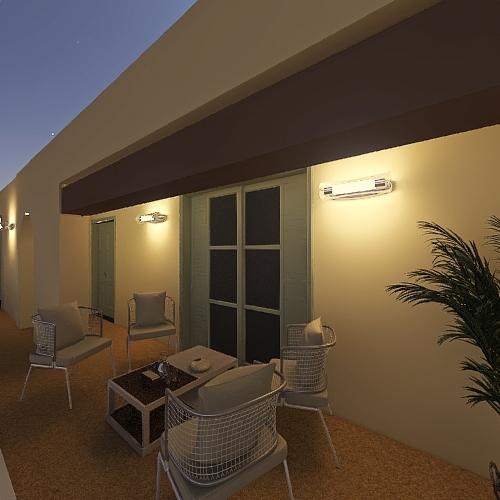 esterno bifamiliare Interior Design Render