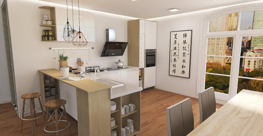 Apartment in the city Interior Design Render