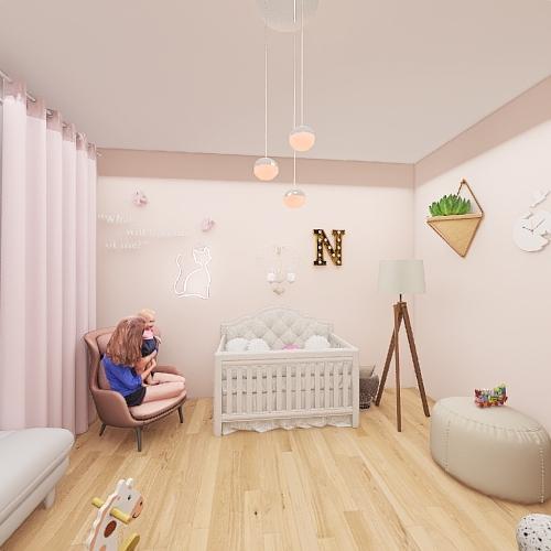 Cute baby room. Interior Design Render
