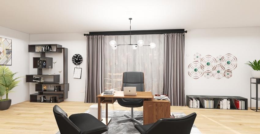 CEO's Office Interior Design Render