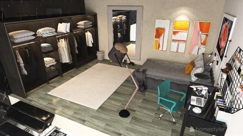 luxury student apartment Interior Design Render