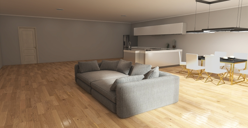 Family House No.2 Interior Design Render