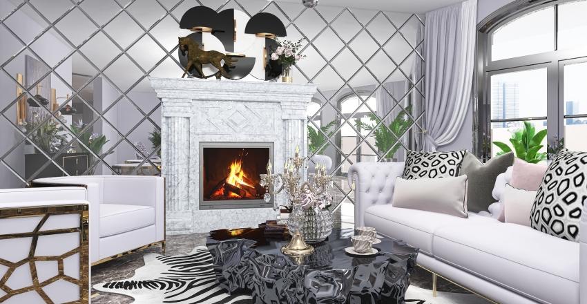 Rita's Hollywood Glam Interior Design Render