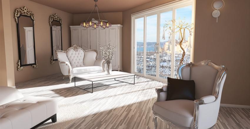 Romantic style Interior Design Render
