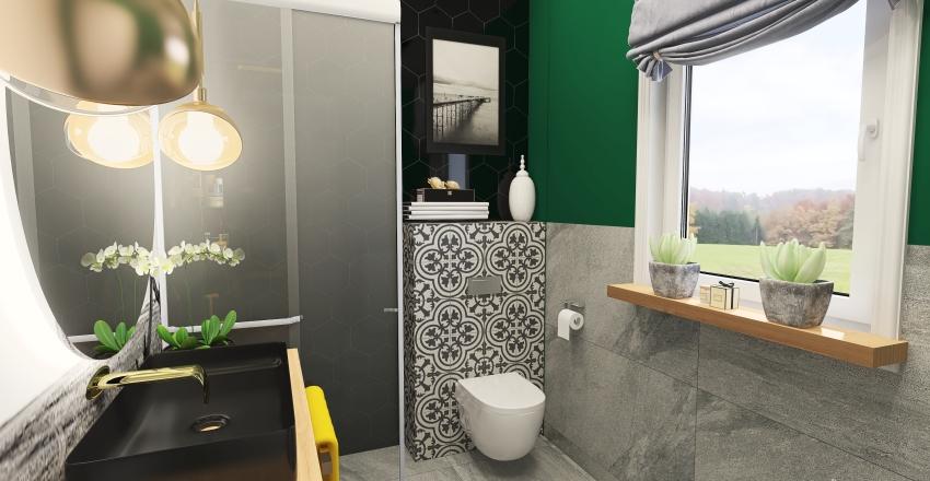 Village modern family house Interior Design Render