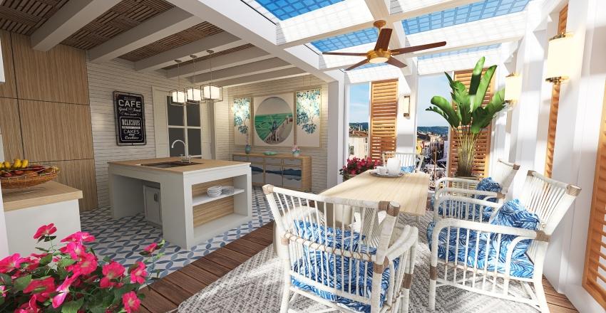 #HSDA2020Residential Coastal Design Kitchen & Dining Interior Design Render