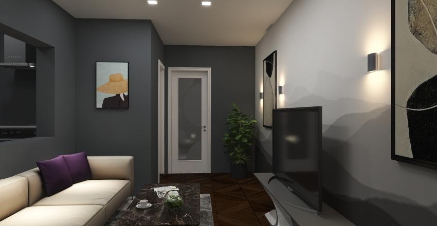 MODERN 1 BEDROOM UNIT Interior Design Render