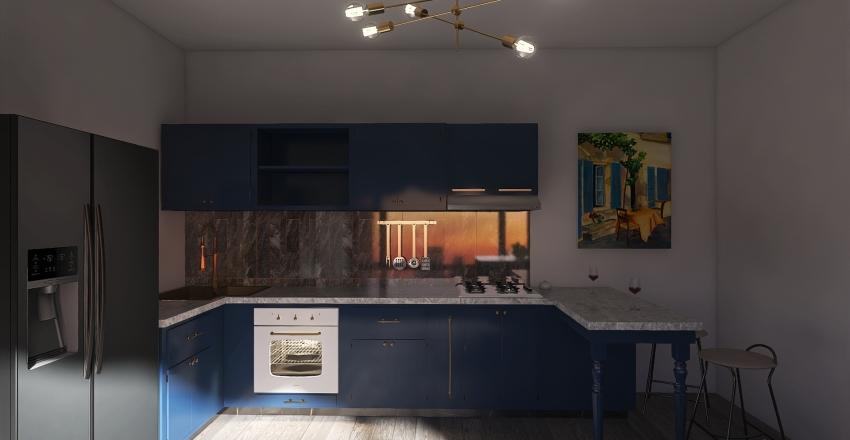 Cozy home Interior Design Render