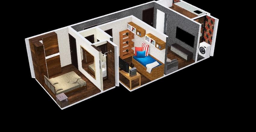 Tenda 42m² Interior Design Render